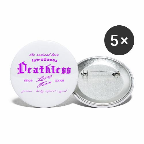 deathless living team violet - Buttons klein 25 mm (5er Pack)