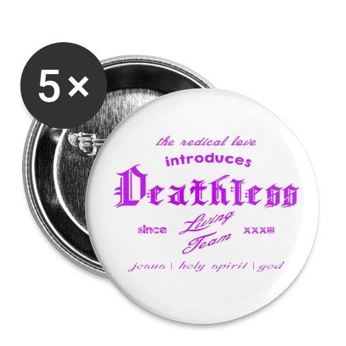 deathless living team violet - Buttons klein 25 mm