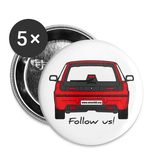 follow us - Lot de 5 petits badges (25 mm)