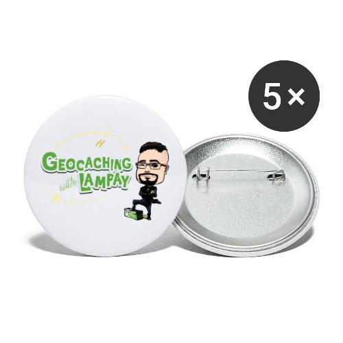 Geocaching With Lampay - Lot de 5 petits badges (25 mm)