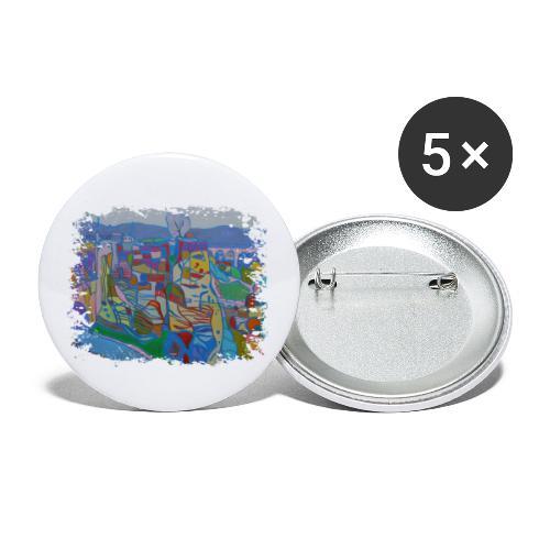 Luxemburg - Buttons klein 25 mm (5er Pack)