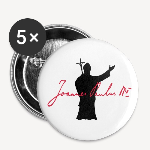Joannes Paulus II - Buttons small 1''/25 mm (5-pack)