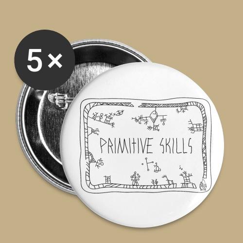 Primitive Skills - Buttons klein 25 mm (5er Pack)