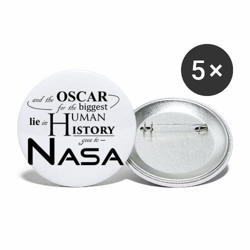 Flat Earth Nasa - Buttons klein 25 mm (5er Pack)
