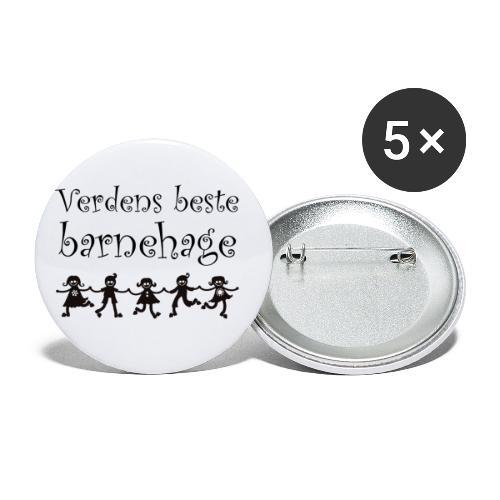 verdens beste barnehage - gave til barnehageansatt - Liten pin 25 mm (5-er pakke)