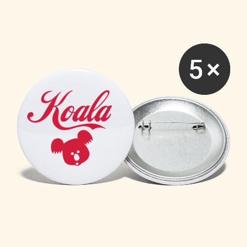 Koala Kawaii Comic Design für Australien Fans - Buttons klein 25 mm (5er Pack)