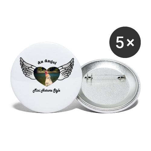 An Angel bunt - Buttons klein 25 mm (5er Pack)