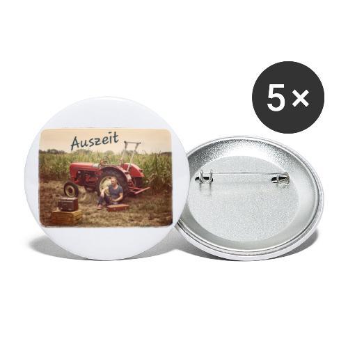 Auszeit - Buttons klein 25 mm (5er Pack)