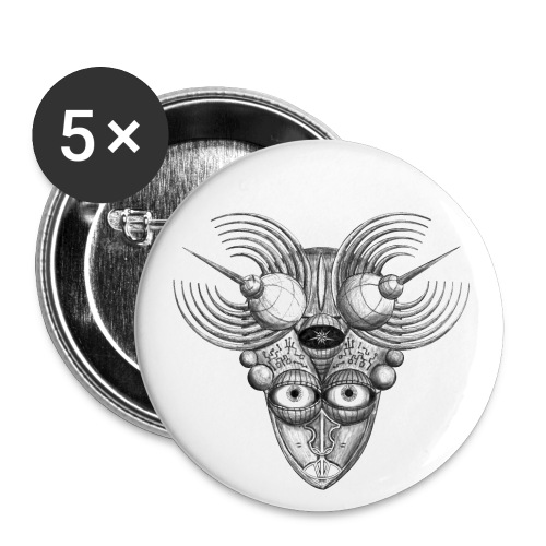 Androidenmaske 'Telepath' - Buttons klein 25 mm (5er Pack)