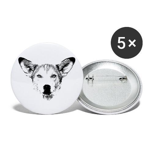 Podenco-Mischling / Hunde Design Geschenkidee - Buttons klein 25 mm (5er Pack)