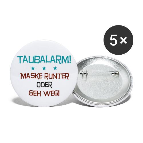 Taubalarm - Buttons klein 25 mm (5er Pack)