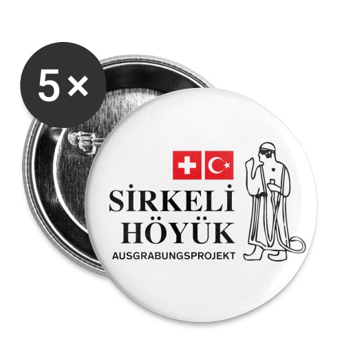 Logo schwarz mittel png - Buttons small 1''/25 mm (5-pack)
