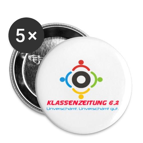 Logo neu farbig png - Buttons klein 25 mm (5er Pack)