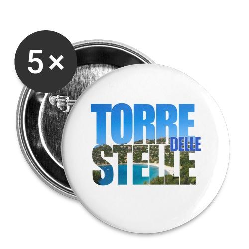 TorreTshirt - Confezione da 5 spille piccole (25 mm)