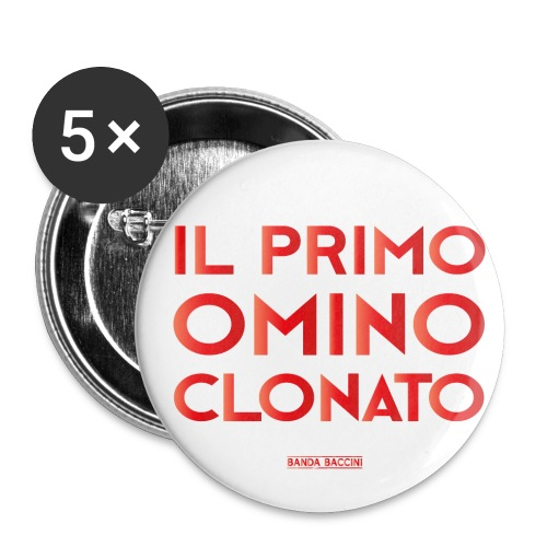Il Primo Omino Clonato. - Confezione da 5 spille piccole (25 mm)