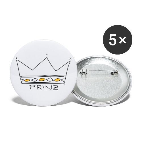 Krone Prinz - Buttons klein 25 mm (5er Pack)