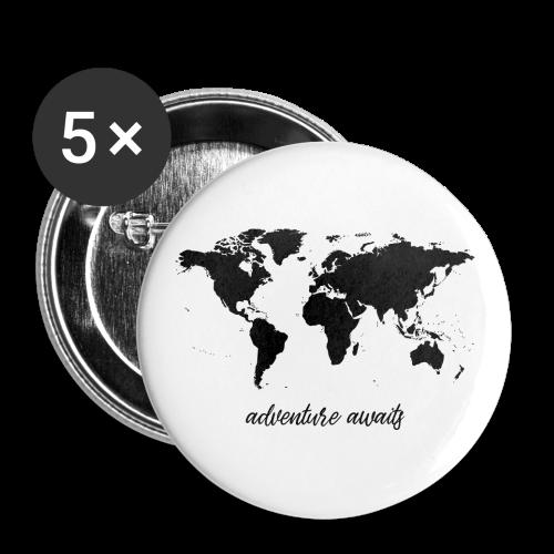 adventure awaits - Weltkarte - Buttons klein 25 mm