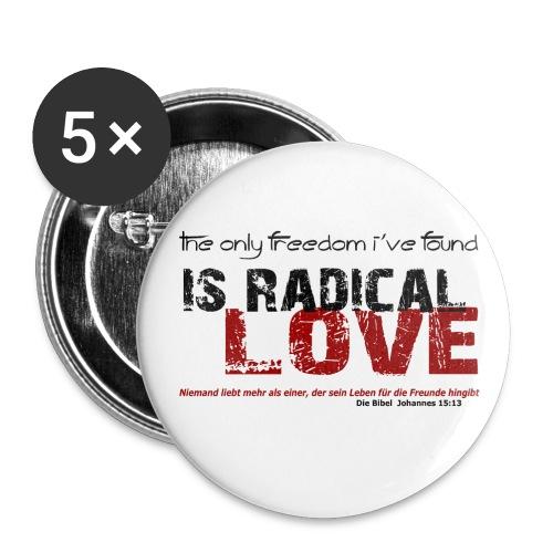 Radikale Liebe black - Buttons klein 25 mm
