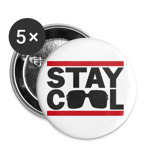 Stay Cool BLK √ - Buttons/Badges lille, 25 mm (5-pack)