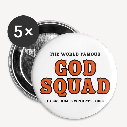 GOD SQUAD - Buttons small 1''/25 mm (5-pack)