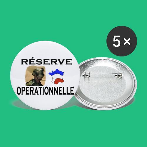 reserve operationnelle4 - Lot de 5 petits badges (25 mm)