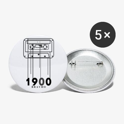 Cassette 1900 - Paquete de 5 chapas pequeñas (25 mm)