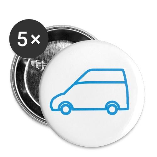 Nuggetforum.de Logo Nugget Hochdach - Buttons klein 25 mm (5er Pack)