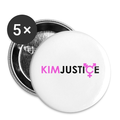 kimjustice-logo - Buttons small 1''/25 mm (5-pack)