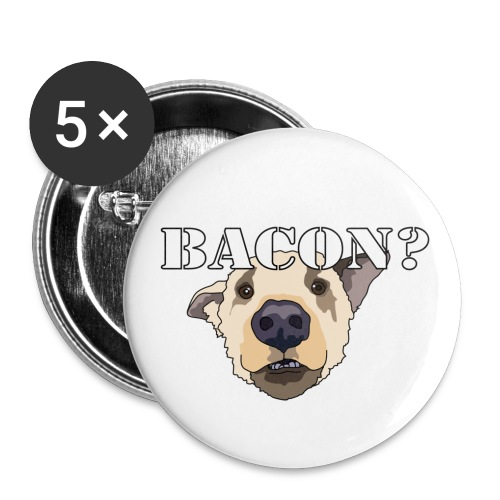 baconlarge - Buttons small 1''/25 mm (5-pack)