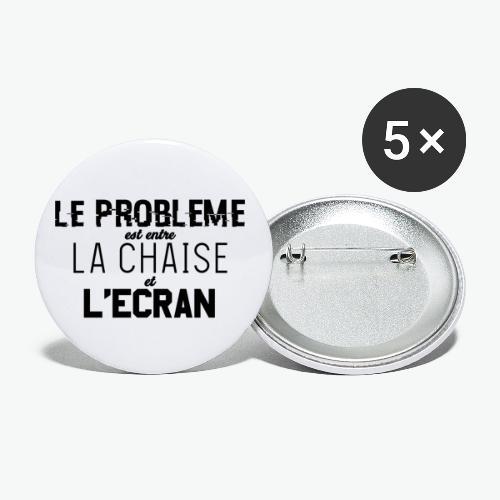 Le vrai problème - Lot de 5 petits badges (25 mm)