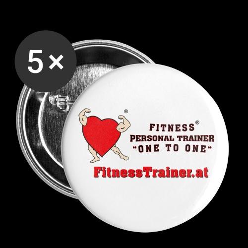 FitnessTrainer.at - Buttons klein 25 mm (5er Pack)
