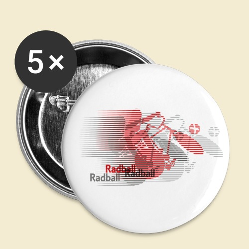 Radball | Earthquake Red - Buttons klein 25 mm