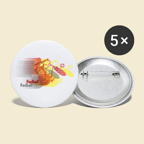 Radball | Earthquake Germany - Buttons klein 25 mm (5er Pack)
