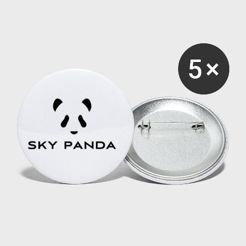 Sky Panda Logo - Buttons klein 25 mm (5er Pack)