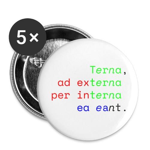 Terna Alba - Confezione da 5 spille piccole (25 mm)