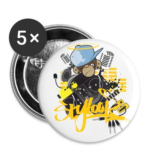 Styloop Monkey - Buttons klein 25 mm (5er Pack)