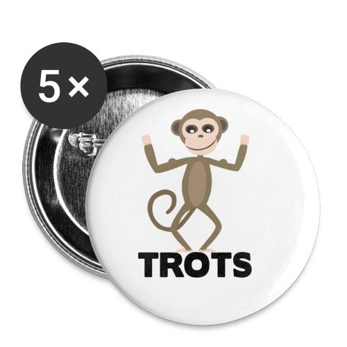apetrots aapje wat trots is - Buttons klein 25 mm (5-pack)