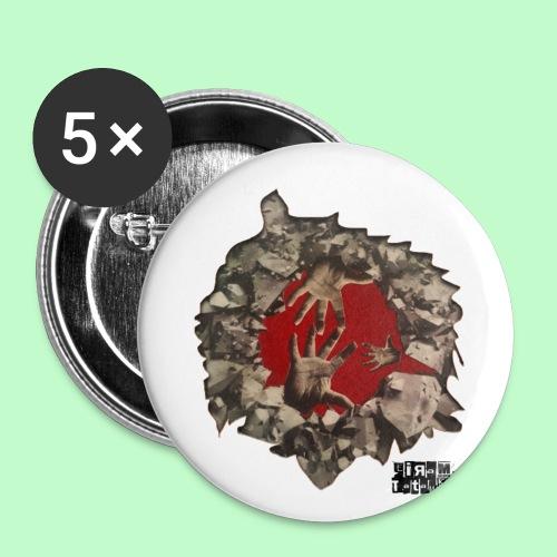 Sauvage - Lot de 5 petits badges (25 mm)