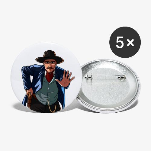 Cowboy Freeze! - Buttons small 1''/25 mm (5-pack)