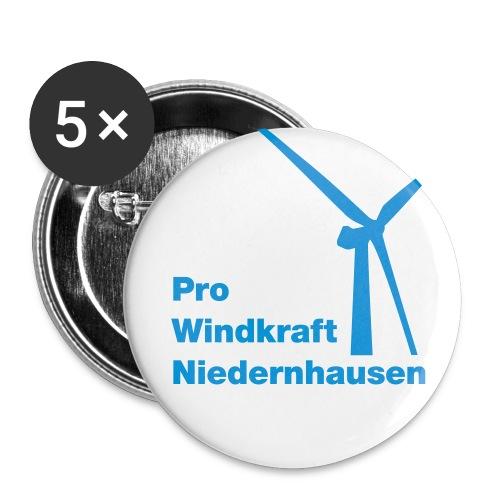 ProWindkraft Niedernhausen Logo - Buttons klein 25 mm (5er Pack)