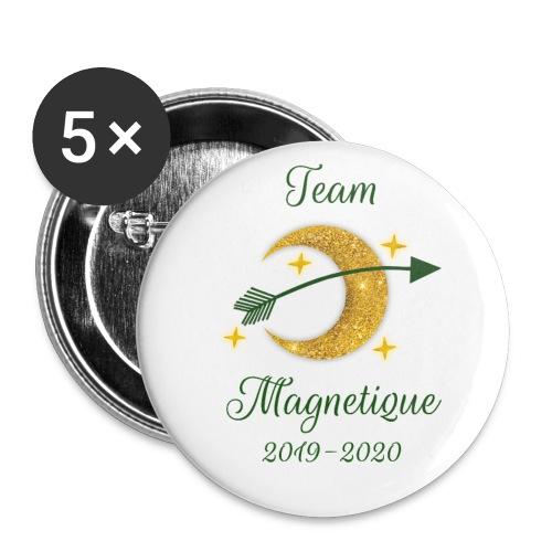 Team Magnetique 2019 2020 - Rintamerkit pienet 25 mm (5kpl pakkauksessa)