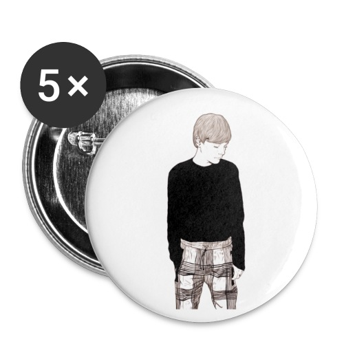 LT silhouette print - Buttons small 1''/25 mm (5-pack)