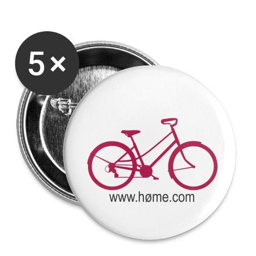 vélo - Lot de 5 petits badges (25 mm)