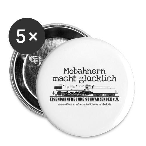 Mobahnern macht gluecklic - Buttons klein 25 mm (5er Pack)