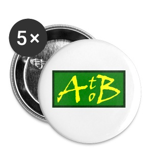 AtoB Logo green / yellow - Buttons small 25 mm