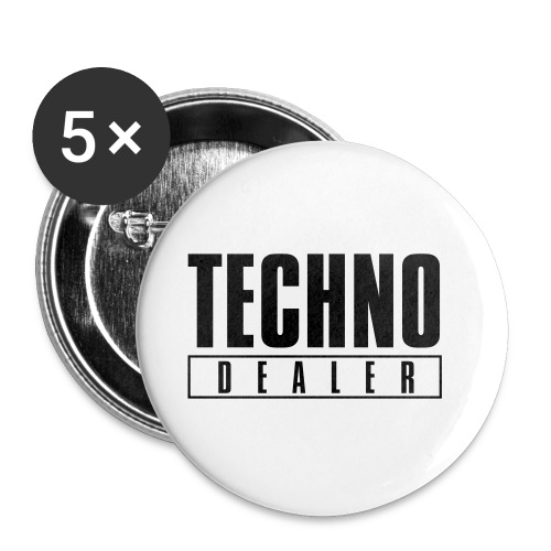 Techno dealer - Buttons small 1''/25 mm (5-pack)