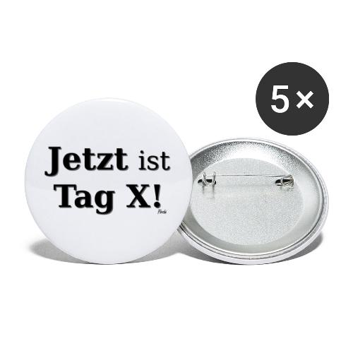 Tag X - Buttons klein 25 mm (5er Pack)
