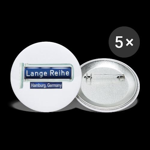 Lange Reihe: altes Straßenschild, Hamburg Germany - Buttons klein 25 mm (5er Pack)