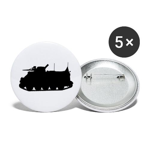 Swedish APC Pansarbandvagn 302 - PBV 302 - Små knappar 25 mm (5-pack)