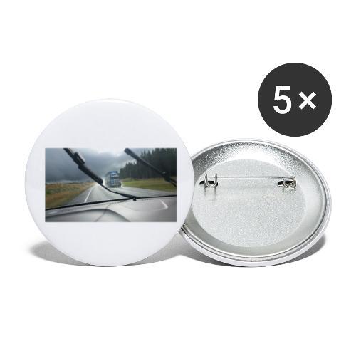 LKW - Truck - Neuseeland - New Zealand - - Buttons klein 25 mm (5er Pack)
